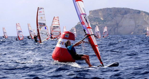 Racing gets underway at Techno 293 World Championships
