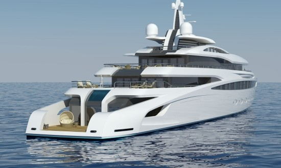 The A Group presents 85m superyacht project
