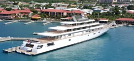 138m superyacht Rising Sun in the Caribbean