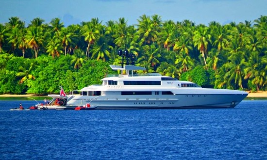 Silver Yachts' 73m superyacht Dragonfly in Majuro
