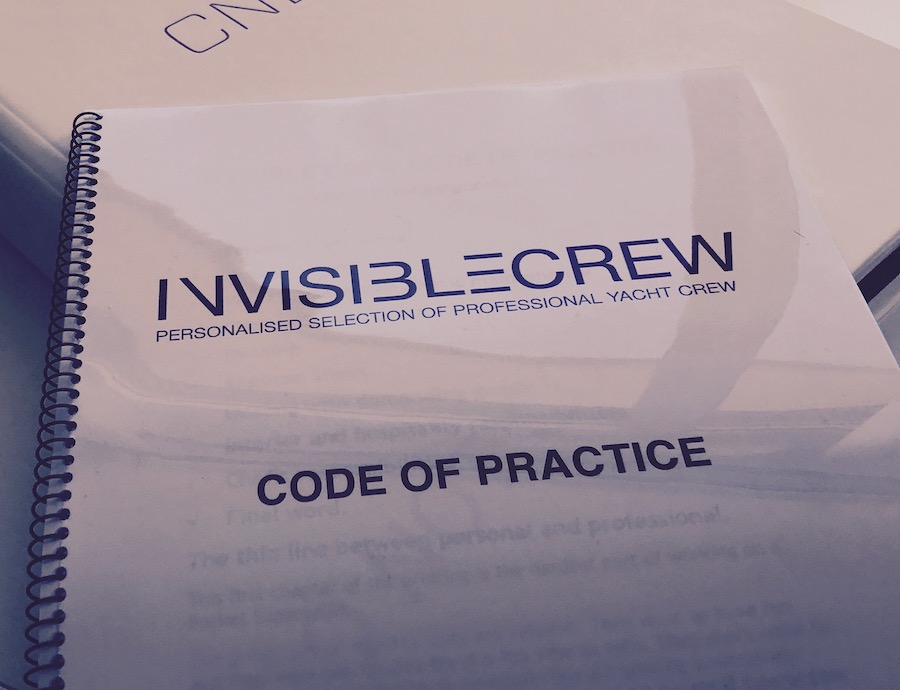 Code of practise for yachts