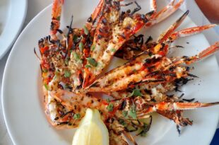 Cooking with flames - Langoustines