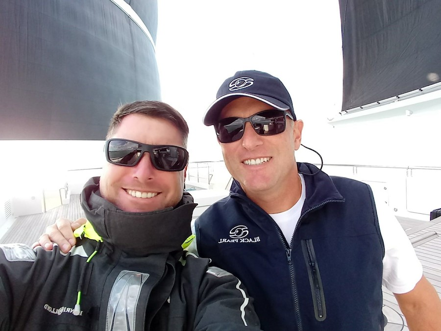 Captain Justin Christo on Black Pearl with Rigger Ben