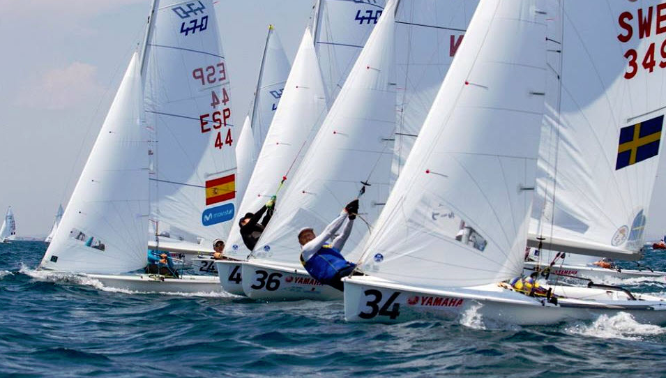 Racing begins at 470 World Championships