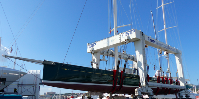 STP Shipyard Palma performed the largest lifting to date in the Balearics: 66.7m of S/Y Hetairos