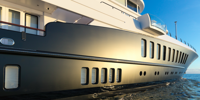 "Rolling Stock & Monaco Marine repaints rare black matt hull of Feadship motoryacht ""Air"""