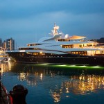 Singapore yacht show 2015-at night