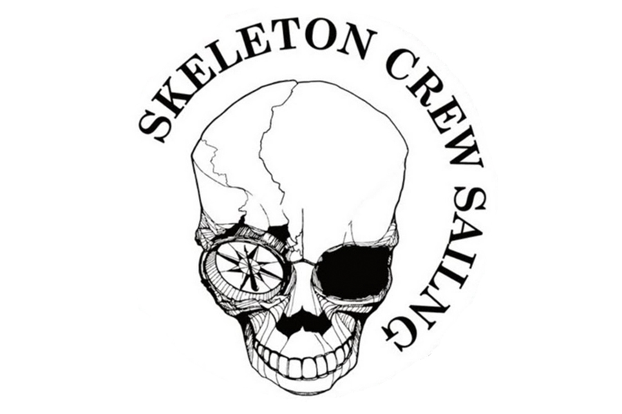 Skeleton Crew Sailing skull with compass in eye