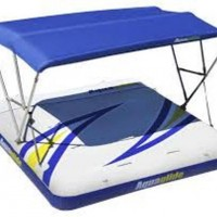 Aquaglide bathing platform with Bimini